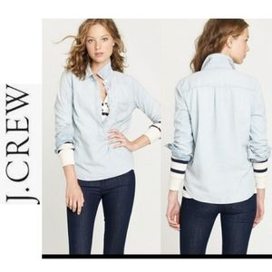 J.CREW  faded popover chambray long sleeves size L